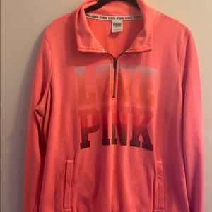 Victoria's Secret PINk half zip large